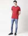 Shop Chilli Pepper Round Neck Varsity T-Shirt