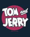 Shop Classic Tj Logo Printed Round Neck 3/4th Sleeve T-Shirt (TJL) Navy Blue