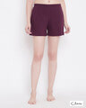 Shop Chic Basic Boxer Shorts In Purple  Cotton Rich-Front