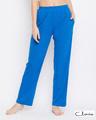 Shop Cotton Rich Pyjama In Blue-Front