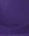 Shop Non Padded Non Wired T Shirt Bra With Lace In Purple   Cotton Rich-Full