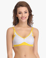 Shop Non Wired Non Padded Full Cup T Shirt Bra In Grey   Cotton-Front