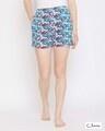 Shop Pretty Florals Boxer Shorts In Multicolour  100% Cotton-Front