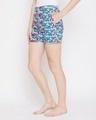 Shop Pretty Florals Boxer Shorts In Multicolour  100% Cotton-Back