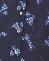 Shop Print Me Pretty Button Me Up Shirt & Pyjama In Navy  Crepe