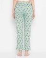 Shop Print Me Pretty Pyjama In Mint Green   Cotton Rich-Design