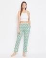Shop Print Me Pretty Pyjama In Mint Green   Cotton Rich-Full