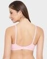 Shop Smoothie Non Padded Non Wired Full Coverage Bra In Baby Pink   Cotton Rich-Design
