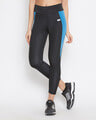 Shop Snug Fit Active Ankle Length Colourblock Tights In Black-Front