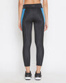 Shop Snug Fit Active Ankle Length Colourblock Tights In Black-Design