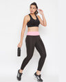 Shop Snug Fit Active Ankle Length Tights In Black-Full