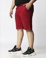 Shop Dark Red Plus Size Casual Shorts-Back