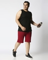 Shop Dark Red Plus Size Casual Shorts-Full