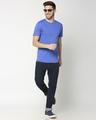 Shop Dazzling Blue Half Sleeve T-shirt-Full