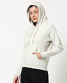 Shop Ecru Melange Hoodie Sweatshirt-Design