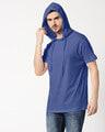 Shop Ensgn Blue Half Sleeve Hoodie T-Shirt-Design