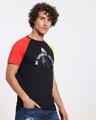 Shop Fav Colors Contrast Sleeve Raglan T-Shirt-Back