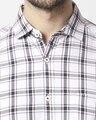 Shop Men's Navy Slim Fit Casual Check Shirt