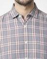 Shop Men's Slate Grey Slim Fit Casual Check Shirt