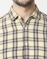Shop Men's Yellow Slim Fit Casual Check Shirt