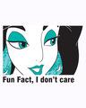 Shop Fun Fact I Don't Care Half Sleeve T-Shirt (DL)-Full
