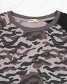 Shop Grey Camo Sleeve Raglan Camo T-Shirt