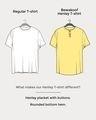 Shop Black Half Sleeve Henley T-Shirt-Design