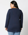 Shop Happiness Plus Size Colorful  Full Sleeves T-Shirt-Design