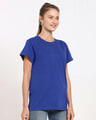 Shop Hashtag Blue Boyfriend T-Shirt-Back