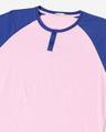 Shop Hashtag Blue Raglan Henley