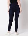 Shop Womens Blue Washed Slim Fit High Waist Jeans-Design