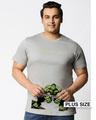 Shop Hulk Rage Half Sleeves Printed T-Shirt Plus Size (AVL)-Front