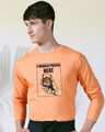 Shop I Would Prefer Neat Full Sleeve T-Shirt Mock Orange -Front