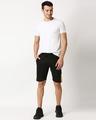 Shop Men's Plain Cut N Sew Fashion Shorts Multicolor