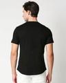Shop Jet Black Round Neck Tail Hem T-Shirt-Full