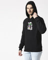 Shop Joker Splash Stylised Panel Hoodie Sweatshirt (BML)-Back