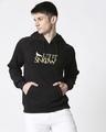Shop Men Chest Printed Let it Snow Black Sweatshirt-Front