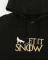 Shop Men Chest Printed Let it Snow Black Sweatshirt