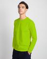 Shop Lime Punch Fleece Sweater-Back
