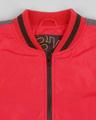 Shop Maroon Scuba Strip Bomber Jacket