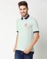 Shop Marvel Shield Camo Green Raglan Polo T-Shirts-Design