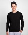 Shop Men's Full Sleeve T-Shirt Pack of 3(Black,White & Bold Red )-Back