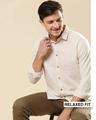 Shop Men's Linen Contrast Full Sleeves Shirt-Front