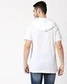Shop White Half Sleeve Hoodie T-Shirt-Full