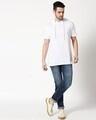 Shop White Half Sleeve Hoodie T-Shirt