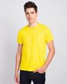 Shop Men's Plain Half Sleeve T-shirt Pack of 3(Black, White & Pineapple Yellow)-Full