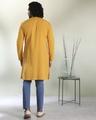 Shop Men's Solid Mustard Long Kurta-Full