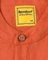 Shop Men's Solid Orange Tape Shirt