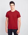 Shop Men's Plain Half Sleeve T-Shirt Pack of 2 (Bold Red)-Back