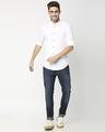 Shop White Seersucker Slim Fit Casual Shirt-Full
